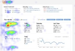 statistiques web. Heat Map ou zones chaudes: statistiques Getclicky
