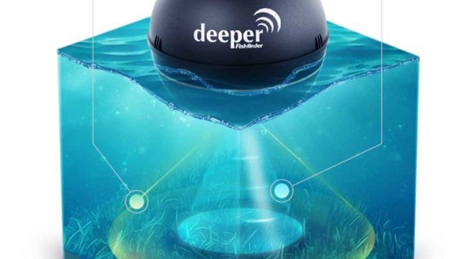 Le détecteur de poissons portable sans fil DEEPER, est le premier sonar connecté pour la pèche