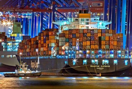 Les containers des bateaux